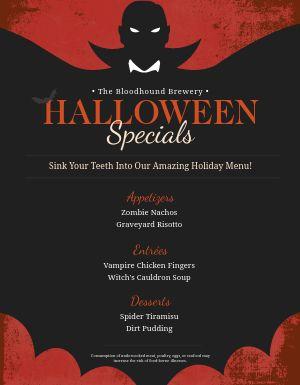 Halloween Restaurant Flyer