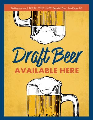 Draft Beer Window Flyer