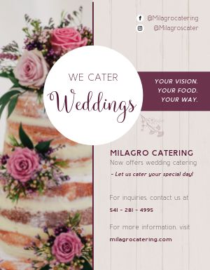 Wedding Cater Flyer