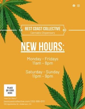 Dispensary Hours Flyer