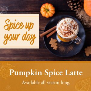 Pumpkin Latte Instagram Post