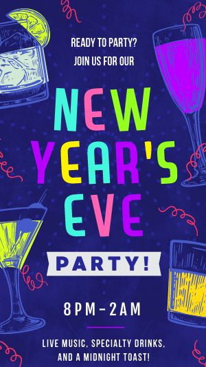New Years Eve Facebook Story