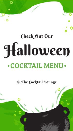 Halloween Cocktail Facebook Story