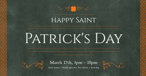 St Patricks Dinner Facebook Post