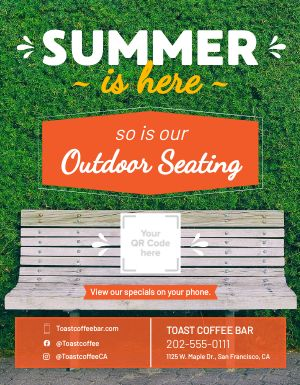 Summer Seating Signage