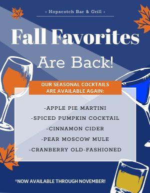 Fall Drink Flyer