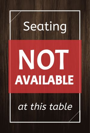 Unavailable Table Placard