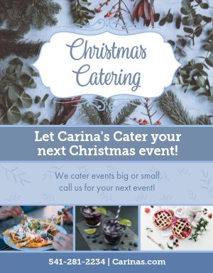 Christmas Catering Flyer