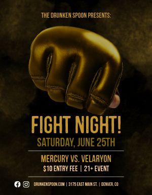 Fight Night Flyer