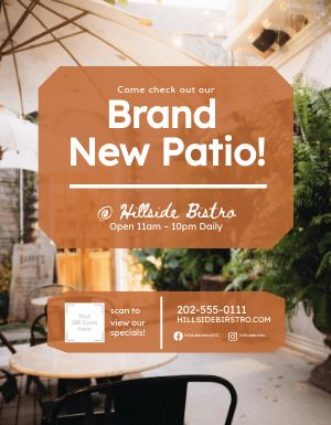 New Patio Flyer