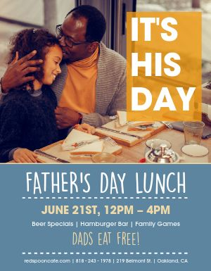 Fathers Day Lunch Flyer