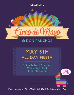 Cinco de Mayo Celebration Flyer