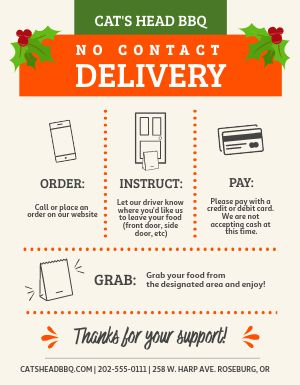 Winter Delivery Signage