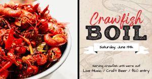 Crawfish Boil Facebook Post