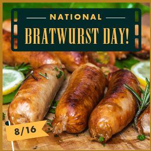 Bratwurst Instagram Post