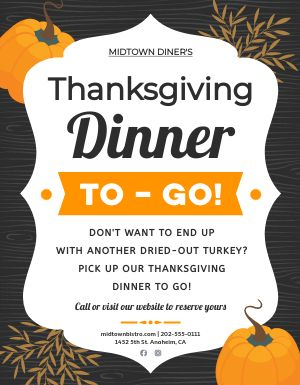 Thanksgiving Takeout Flyer