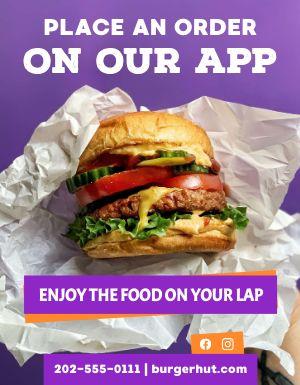 Burger App Flyer
