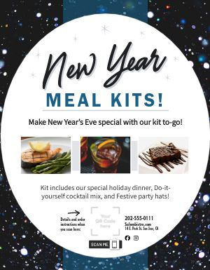 New Years Meal Kit Flyer
