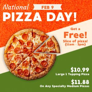 Pizza Day Specials Instagram Post