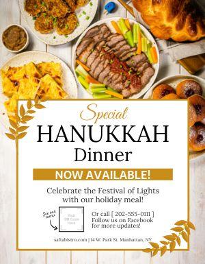 Hanukkah Dinner Sign