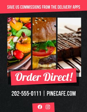 No Apps Order Direct Flyer