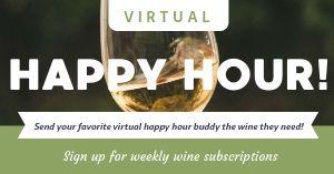 Virtual Happy Hour Facebook Post