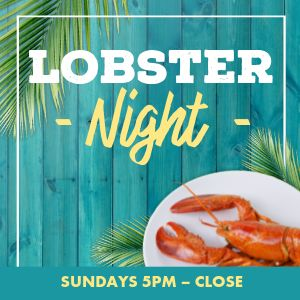 Lobster Night Instagram Post