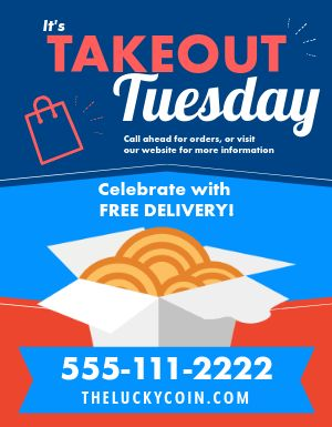 Takeout Tuesday Ad Flyer