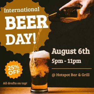 International Beer Day Instagram Post