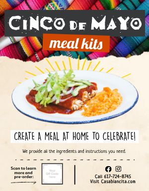 Cinco De Mayo Meal Kit Flyer