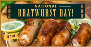 Bratwurst Facebook Post