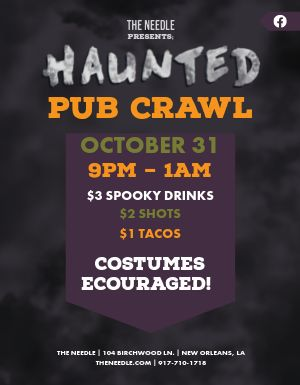 Haunted Pub Crawl Flyer