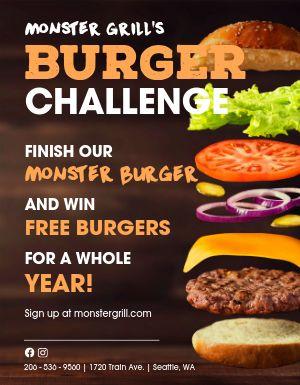 Burger Challenge Flyer