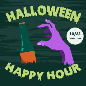 Halloween Happy Hour Instagram Update