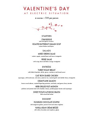 Valentines Day Party Menu