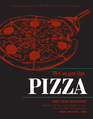 Promotional Pizza Flyer