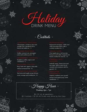 Christmas Night Menu