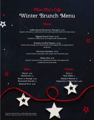 Starry Christmas Menu