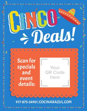 Cinco Deals Sign