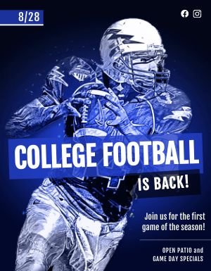Football Sports Bar Flyer