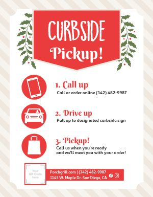 Curbside Pickup Signage