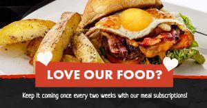 Food Subscription Facebook Post