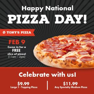 Pizza Day Celebration Instagram Post