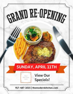 Grand Reopening Announcement