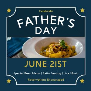Father's Day Restaurant Instagram Post