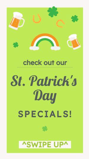 St Patricks Specials Instagram Story