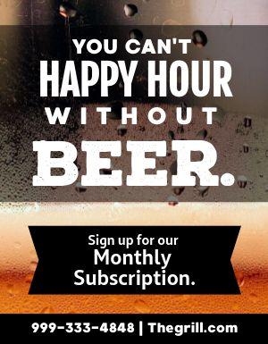 Beer Subscription Flyer