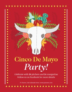 Cinco De Mayo Celebratory Flyer