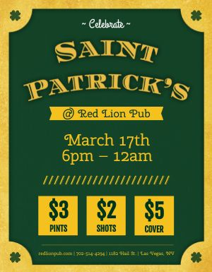 St Paddy's Pub Flyer