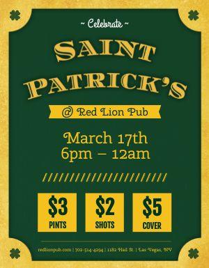 St Paddy's Pub Flyer